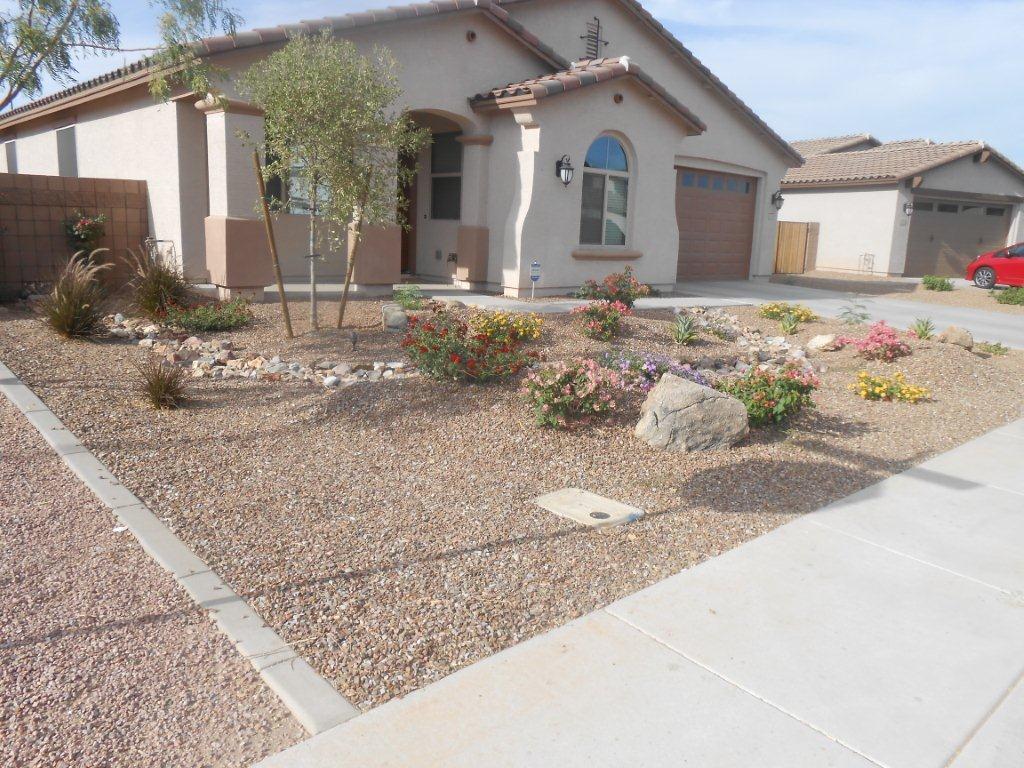 Arizona Landscape Design Poco Verde Landscape Front Yard Desert